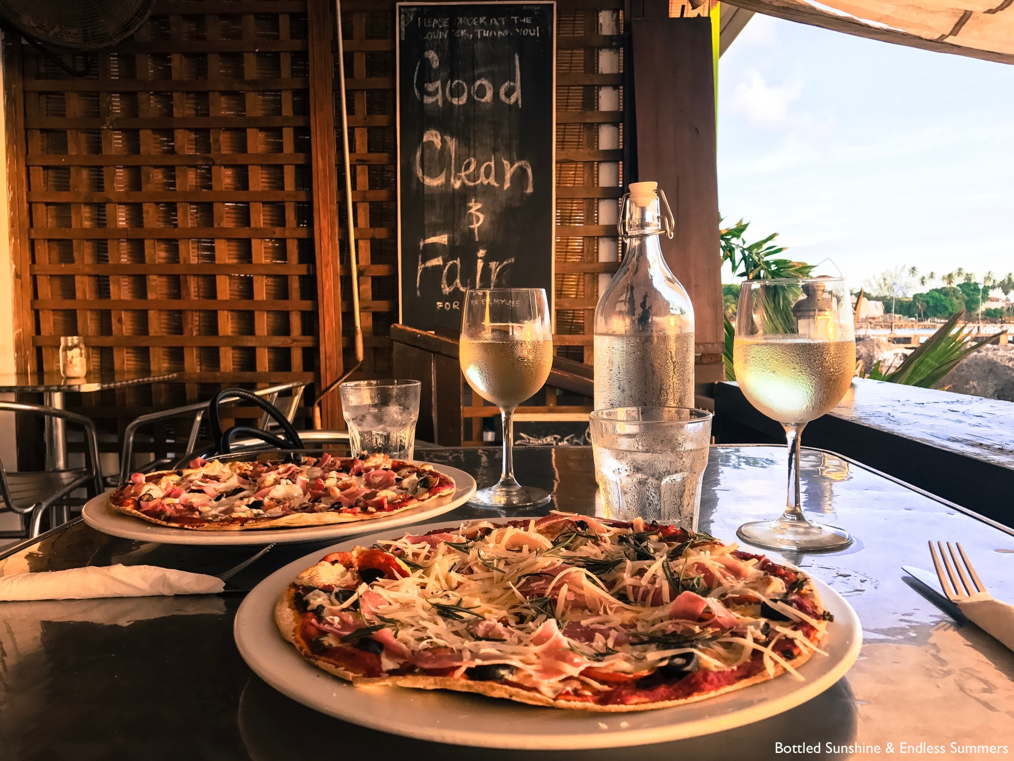 Pizza and Wine - The Orange Street Grocer, Barbados